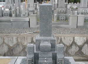 西山霊園 和墓(黒龍石)
